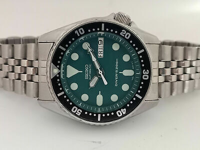 $ CDN159.03 • Buy Lovely Green Modded Seiko 7s26-0030 Skx013 Automatic Mens Watch Sn 706072