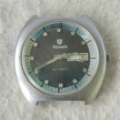 $ CDN183.16 • Buy Vintage Nivada Watch Automatic Double Calendar Dial Gray All Its Parts To Restor