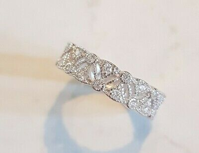 AU52 • Buy Solid 925 Siver & White Sapphire Victorian Ring ☆ Brand New ☆