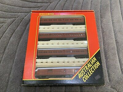 AU207.50 • Buy Powerline Model Train Carriages Tuscan HO NSWGR