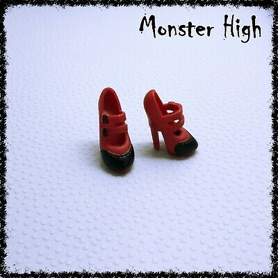 MONSTER HIGH Doll Shoes, Operetta, Freaky Fusion, Red & Black • 3.50£