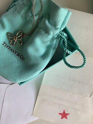 AU245 • Buy Genuine Vintage Tiffany & Co Butterfly Necklace In Box With Receipt