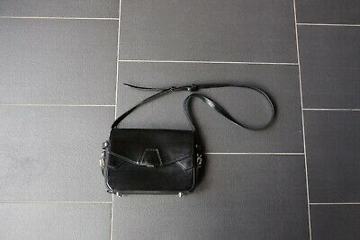 AU75 • Buy Alexander Wang Tri Fold Black Shoulder Bag With White Inner - 100% Authentic