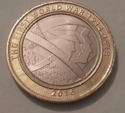 RARE 2 Pound Coin - The 100th Anniversary Of The First World War - 2016 • 4.99£