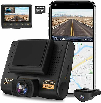 AU122.22 • Buy Dual Dash Cam, AQP Full HD 1080P Car Camera Front And Rear For Cars, Dashboard C