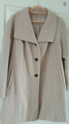 Cotswold Collection Ladies 3/4 Wool Cashmere Mix Coat 14 16 • 9.99£