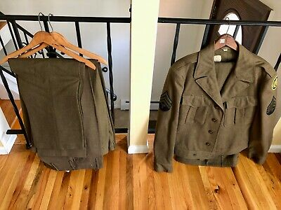$425 • Buy Wwii Eisenhower Field Jacket, M-1943 And 5 Pairs Of Trousers