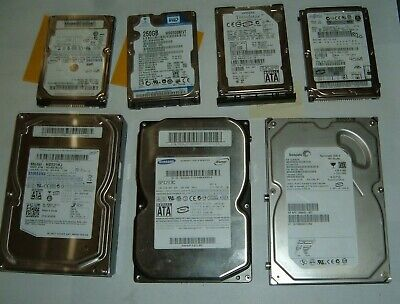 $ CDN10.03 • Buy Hard Drive Lot - Various Sizes - Laptop & PC Cleaned