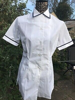 """£12 • Buy Wrns Military Uniform White Summer Shirt Blouse Size 4 42"""" Pit To Pit"""