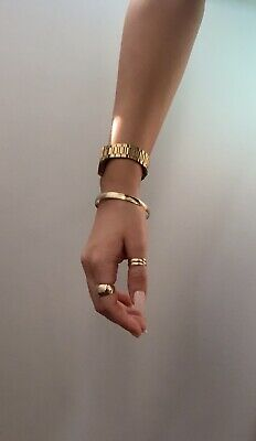 AU920 • Buy 9ct Solid Gold Bangle 7mm X 62mm  15.64g