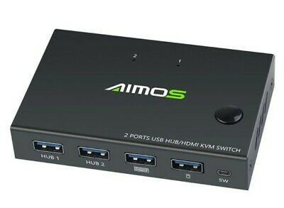 AU30 • Buy AIMOS HDMI KVM Switch 4K USB HD 2 Port Video VGA Splitter Switcher For Printer