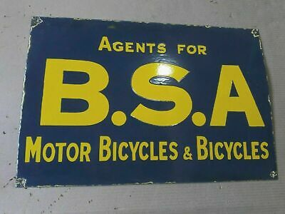 $ CDN249.81 • Buy Porcelain B.S.A Motor Bicycles Enamel Sign Size 14  X 24  INCHES