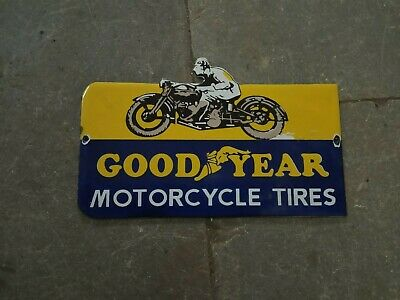 $ CDN219.69 • Buy Lot Of 5 Porcelain Goodyear Motorcycle Enamel Sign Size 8  X 5  Inches