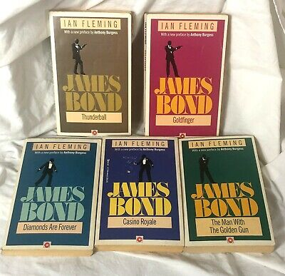 $5 • Buy JAMES BOND 007 Book Novel 5 Lot By Ian Fleming Casino Royale Goldfinger +1 Free!