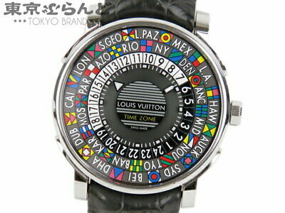 $ CDN6021.70 • Buy LOUIS VUITTON Escal Time Zone Watch Automatic SS Leather Q5D200 Men's W/Box