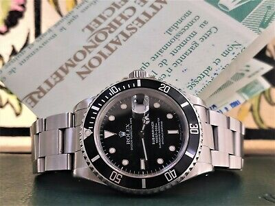 $ CDN13875.75 • Buy Rolex Submariner 16610 Official Box And Italian Papers From 1990 Steel Watch Aut