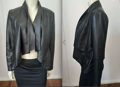 AU5.50 • Buy NWOT Chic Just Jeans Genuine Waterfall Leather Jacket Size 8