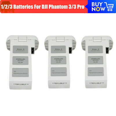 AU211.67 • Buy 1-3x For DJI Phantom 3/3 Pro 4K Drone Battery Adv Standard 4500mAh High Capacity