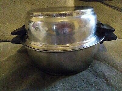 $ CDN49.93 • Buy RENA WARE 3 QT Stock Pot & 2 QT Dome Lid 3-Ply 18-8 Stainless Vtg Kitchen Pan