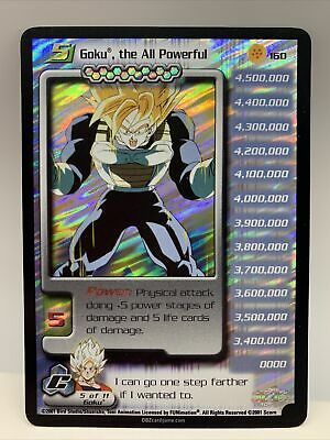 AU775.53 • Buy Ultra Rare Goku The All Powerful #160 Cell Saga Dragonball Z DBZ CCG UR Level 5