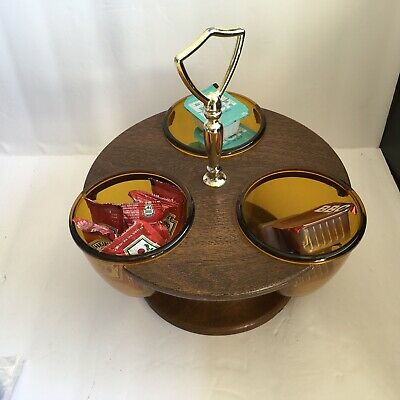 AU32.23 • Buy Condiment Server Thermo-Serv West Bend 3 Bowl Relish Tray Condiment Caddy