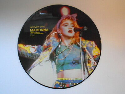 MADONNA 12  Vinyl Record: INTERVIEW WITH MADONNA PICTURE DISC  • 3.50£