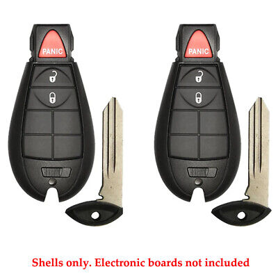 $ CDN15.82 • Buy Remote Pad Fob Case Shell 3B Compatible With Dodge Jeep GQ4-53T Y159 (2 Pack)