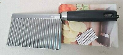 £3.99 • Buy Potato Chip Wavy Cutter Easy Waves Crinkle Salad Vegetables Stainless Steel