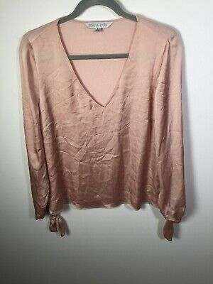 AU21.95 • Buy Forever New Womens Metallic Pink V Neck Long Sleeve Top T Shirt Size M