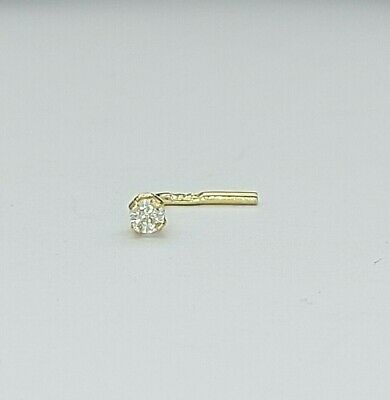 AU49 • Buy Unisex Nose Ring 9ct (375,9k) Yellow Gold Cubic Zirconia Nose Jewellery