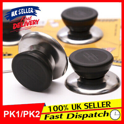 £3.29 • Buy Universal Knob Replacement Cover Wok Stainless Steel Pan Pot Handle Glass Lid