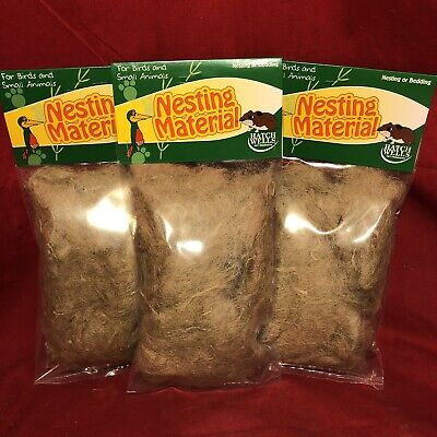 £9.99 • Buy 3 Nesting Material Jute Canary Finch Breeding Nests Bedding Safe Natural Fibres