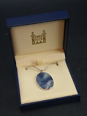 £45 • Buy Wedgwood Blue Ceramic Pendant With Necklace With Original Box