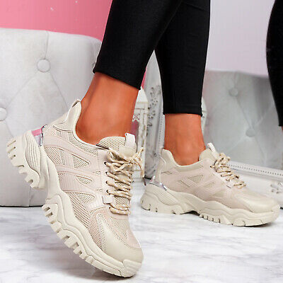 $ CDN29.15 • Buy Womens Ladies Chunky Sport Sneakers Trainers Platform Gym Women Shoes Size