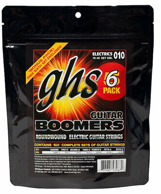$ CDN36.33 • Buy Six Sets Of GHS Boomers Electric Guitar Strings GBL 10-46;  6-pack Set
