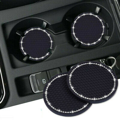 AU5.29 • Buy 2Pcs Car Auto Bling Rhinestone Cup Holder Anti-Slip Insert Coaster Accessories
