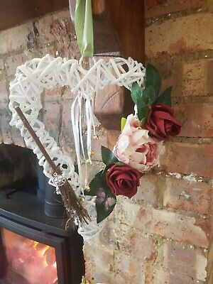 £14.50 • Buy Wiccan Pagan .white Heart .witches Bells Wall Hanging Handfasting Gift
