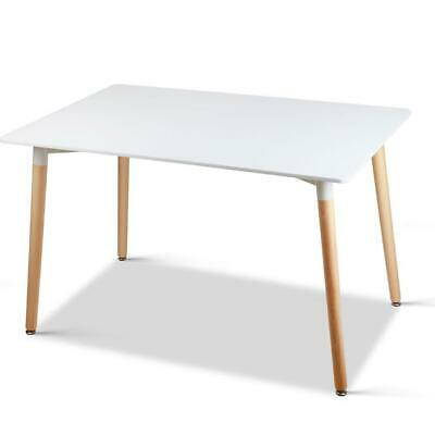AU182.21 • Buy Artiss Dining Table 6 Seater Replica DSW Eiffel Cafe Kitchen White 120cm