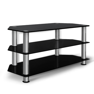 AU77.24 • Buy Artiss TV Stand Entertainment Unit Media Cabinet Temptered Glass 3 Tiers