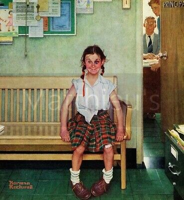 $ CDN23.17 • Buy Norman Rockwell-Shiner, Outside The Principal's Office, Canvas/Paper Print
