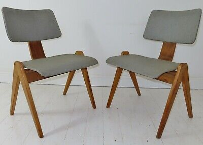 £525 • Buy Stunning Pair Of Vintage Plywood Robin Day Hille Hillestak Chairs