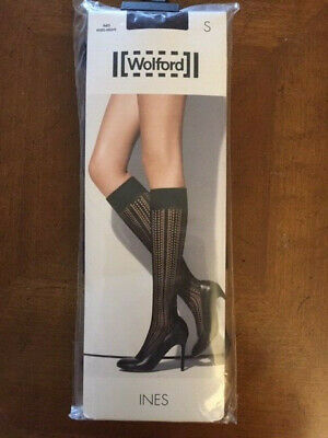 £24.84 • Buy New Wolford INES Knee Highs Size Small Color Purple Night $42.00