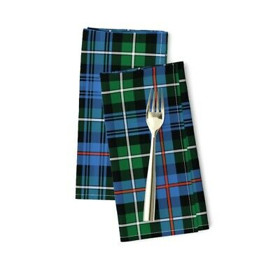 £20.53 • Buy Clan Tartan Plaid Scottish Celtic Cotton Dinner Napkins By Roostery Set Of 2