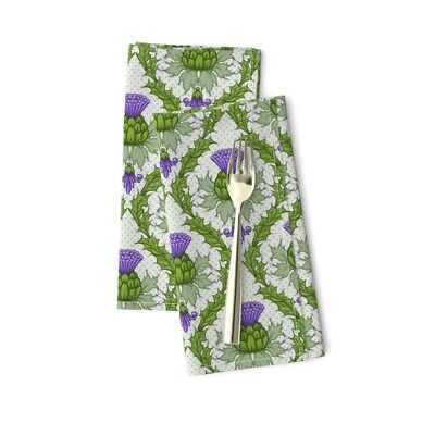 £20.53 • Buy Scottish Thistle Damask Flower Floral Cotton Dinner Napkins By Roostery Set Of 2