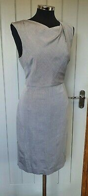 AU67.79 • Buy LK Bennett Grey Shift Dress 14 Structured Gathered Jodia Wool Blend Midi READ