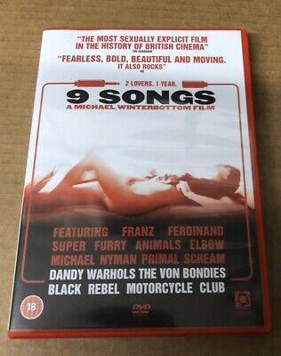 AU8.49 • Buy 9 Songs DVD 2004 Notorious Sexually Explicit Sex Drama Nine With Margot Stilley