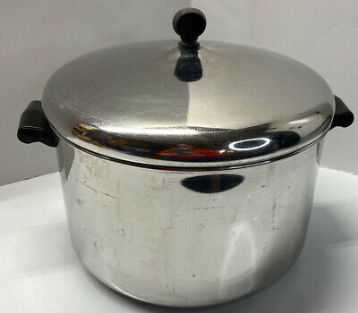 $ CDN62.48 • Buy Vtg Farberware Aluminum Clad Stainless Steel 8 QT Stock Pot W/Lid, And Colander