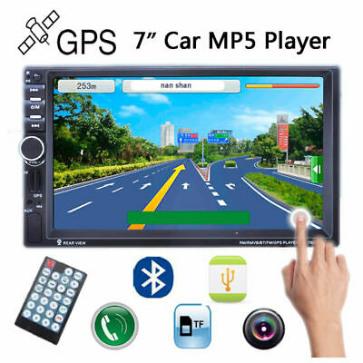 AU85.41 • Buy 7  2DIN GPS Car Radio MP5 Player Bluetooth TF/AUX/FM/USB Stereo  Touch Screen