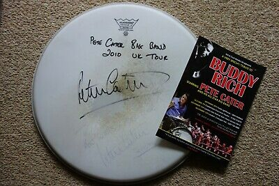 Drum Head Signed By Peter Cater - 2010 UK Big Band Tour - Buddy Rich Trubute • 8£