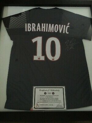 AU300 • Buy Zlatan Ibrahimovic PSG Signed Jersey With Authenticity Certificate - Framed
